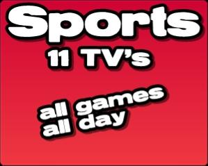 Beer City Sports 11 tv's all the games, all day